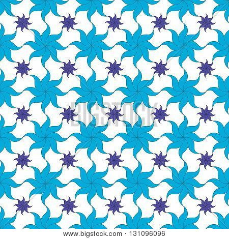 Flowers stylized seamless pattern. Floral modern ornament. Abstract fashion design. Geometric texture for background, wallpaper, wrapping, fabric, textile. Color template for print, website etc Vector