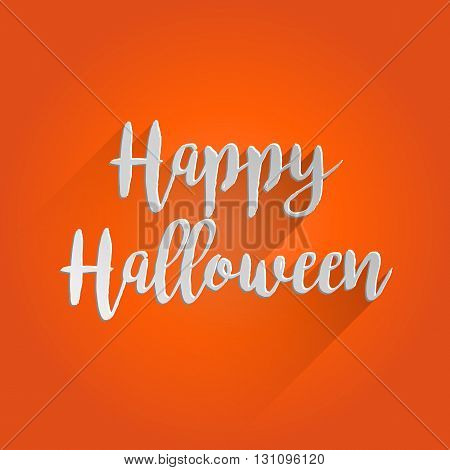 Happy Halloween Lettering Design. Easy to manipulate, re-size or colorize.