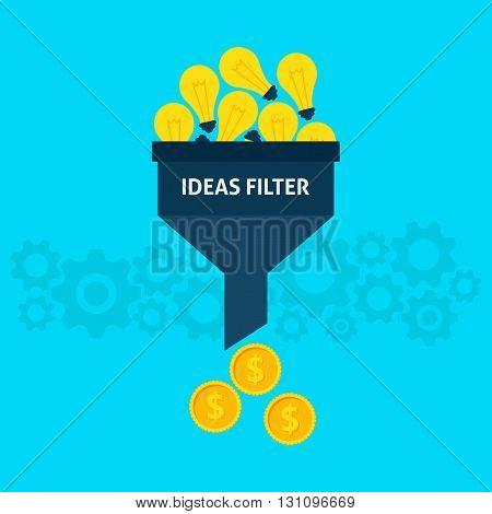 Ideas Filter Flat Concept