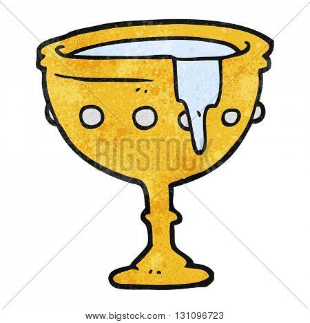 freehand textured cartoon medieval cup