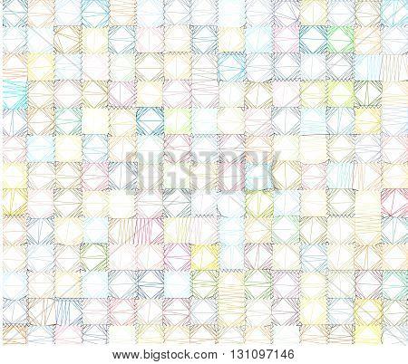 polygonal tiled backdrop in multiple color over white