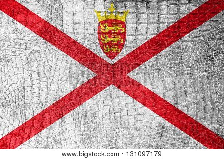 Flag Of Jersey, On A Luxurious, Fashionable Canvas