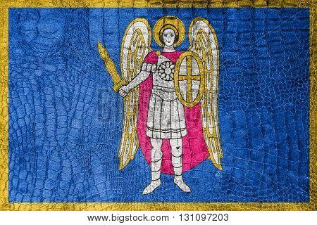 Flag Of Kiev, On A Luxurious, Fashionable Canvas