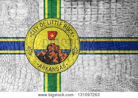 Flag Of Little Rock, Arkansas, On A Luxurious, Fashionable Canva