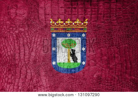 Flag Of Madrid, On A Luxurious, Fashionable Canvas