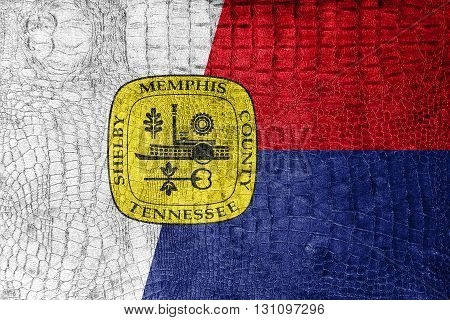 Flag Of Memphis, Tennessee, On A Luxurious, Fashionable Canvas