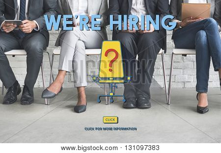 We're Hiring Job Search Occupation Recruitment Concept