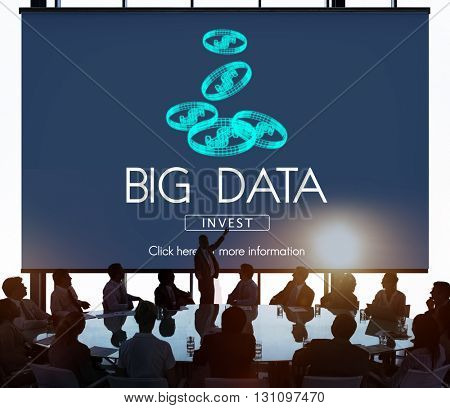 Big Data Digital Information Network Storage Concept