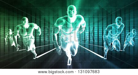 Research and Development on Body Science Healthcare as Concept 3D Illustration Render