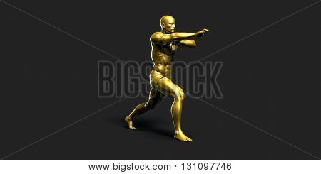 Sports Fitness Concept as a Abstract Background 3D Illustration Render