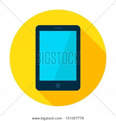 Tablet Device Flat Circle Icon
