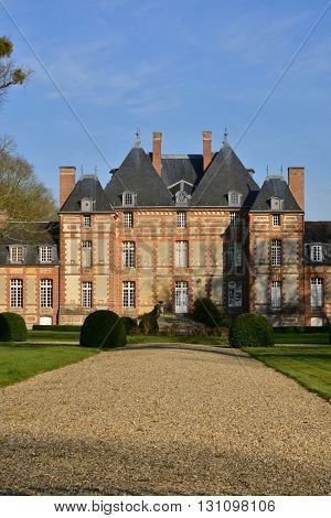 Fleury la Foret France - march 15 2016 : the castle of 17 th century