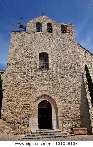 Le Castellet France - april 20 2016 : the picturesque historical church