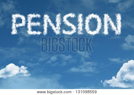 Pension written on rural road