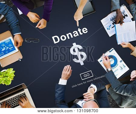 Donate Cash Money Gift Assistance Concept