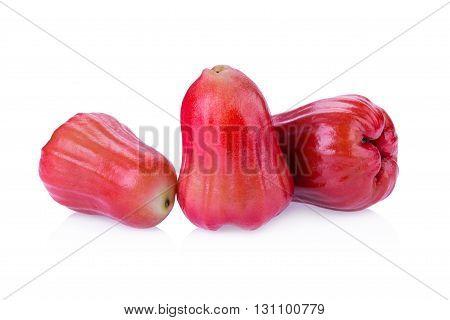 Rose apple isolated on white background .