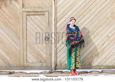 Russian Woman In A Traditional Dress