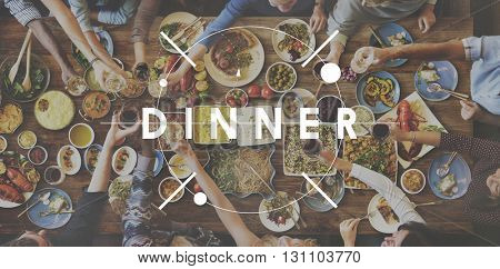 Dinner Food Eating Party Celebration Concept