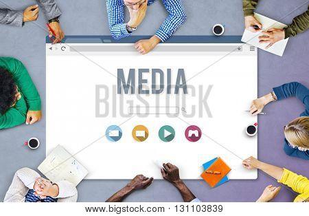 Media Digital Communication Television Social Concept