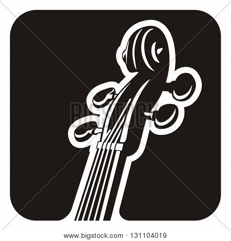 Black and white violin pegs detail icon.