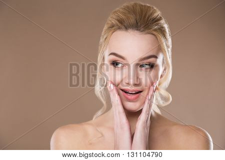 Woman With Hand Near The Face