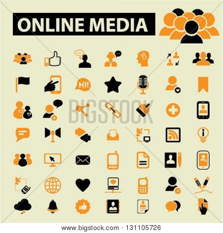 online video, media icons