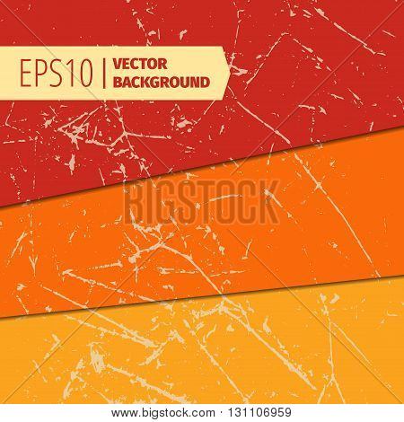 Set of scratched vintage grunge backgrounds. Vector EPS10 format texture.