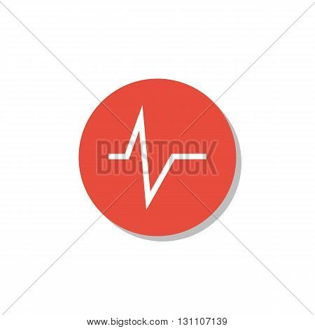 Pulse Icon In Vector Format. Premium Quality Pulse Symbol. Web Graphic Pulse Sign On Red Circle Back