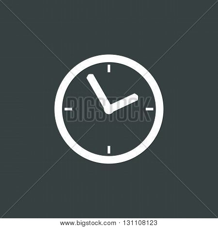 Clock Icon In Vector Format. Premium Quality Clock Symbol. Web Graphic Clock Sign On Dark Background