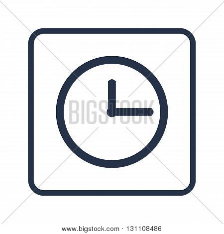 Clock Icon In Vector Format. Premium Quality Clock Symbol. Web Graphic Clock Sign On Blue Round Back