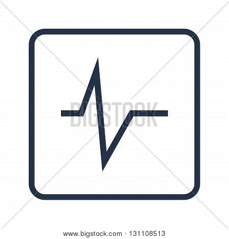 Pulse Icon In Vector Format. Premium Quality Pulse Symbol. Web Graphic Pulse Sign On Blue Round Back