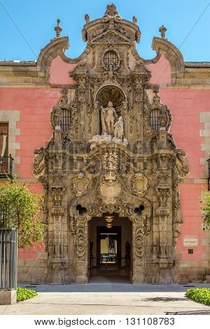 MADRID,SPAIN - APRIL 26,2016 - Museum History of Madrid. This museum houses an important collection which gives an idea of the evolution of Madrid both historically and from the perspective of its urban development.