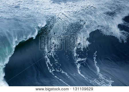 Blue vertical wave abstract background travel concept