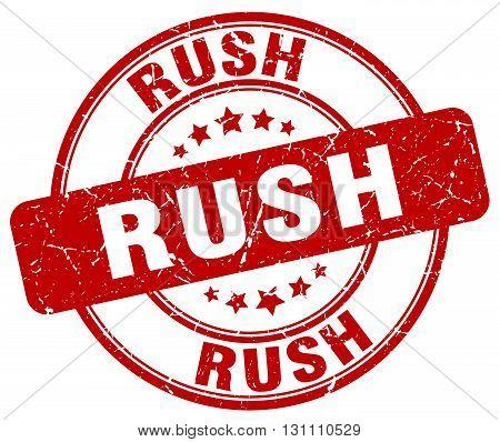 Rush Red Grunge Round Vintage Rubber Stamp.rush Stamp.rush Round Stamp.rush Grunge Stamp.rush.rush V