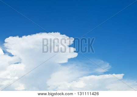 Blue sky background with clouds for background.