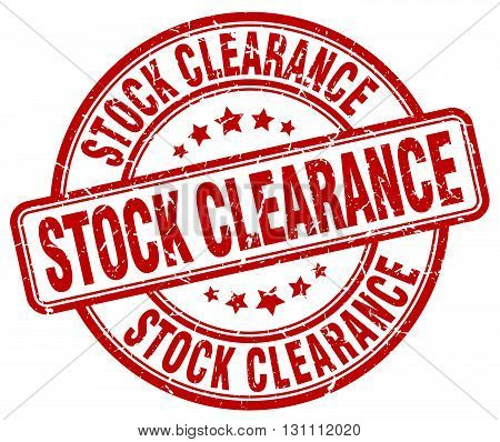 Stock Clearance Red Grunge Round Vintage Rubber Stamp.stock Clearance Stamp.stock Clearance Round St