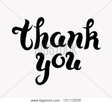 Thank you. Hand drawn isolated vector illustration