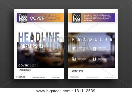 Vector Brochure design Layout  template, , Front page and back page, material style poster. Magazine page.