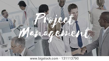 Project Management Business Coordination Concept