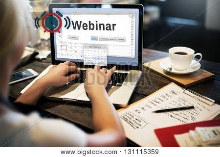 Webinar Meeting Conference Seminar Online Technology Concept