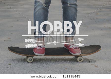 Simple Pleasure Enjoy Hobby Recreation Concept