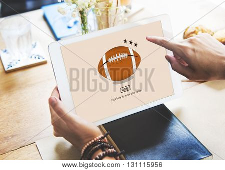 Football Sports Rugby Recreation Leisure Game Concept