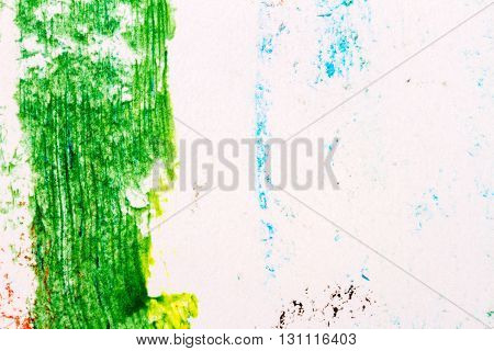 Abstract hand drawn green color acrylic background