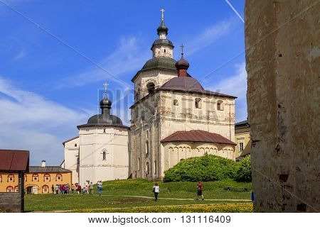 Kirilov, Russia - May 28: Kirrilo-Belozersky Monastery. These are monastery's churchs May 28, 2013 in Kirillov, Russia.