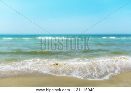 Soft focus on Sea and the beach for background