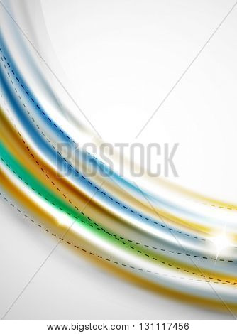 Swirl abstract background. Vector blur waves