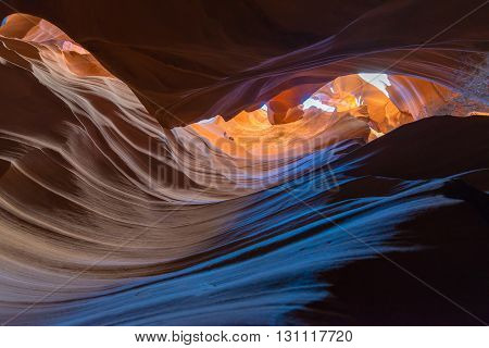 sandstone abstract of the Antelope Canyon Page Arizona USA