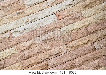 Sandstone wall background The patterns and colors