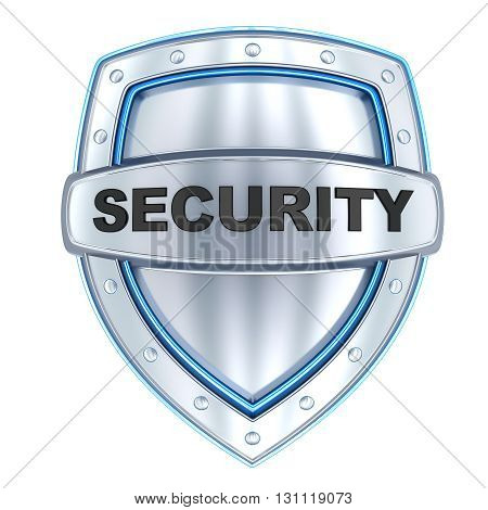 Shield and sign security (done in 3d isolated)