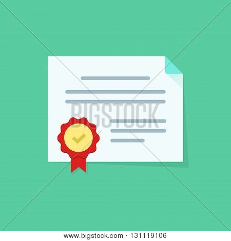 Diploma vector icon isolated, certificate symbol, coupon flat icon, white paper document sheet